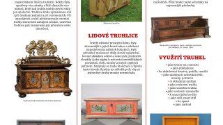 Expozice truhel / fotogalerie / Panely s texty jsou součástí expozice truhel