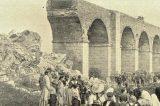 Hranicemi projel před 170 lety první vlak / fotogalerie / Demolice drahotušského viaduktu v roce 1911, foto: archiv Milana Králika