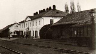 Plnou parou vpřed / fotogalerie / Hranické nádraží v roce 1873, foto: archiv Milana Králika