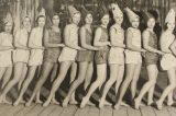 Sokoli rozhýbali život ve městě / fotogalerie / Šibřinky z roku 1934 na téma V tajemných hlubinách oceánu. Sokolky v převleku za rybky mají odvážné kostýmy, foto: sbírky hranického muzea