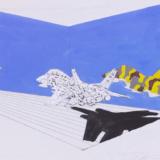 Vernisáž výstavy obrazů Jiřího Lindovského