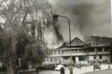 Sokoli rozhýbali život ve městě / fotogalerie / Hranická sokolovna vyhořela dne 2. května 1974, foto: archiv hranického muzea