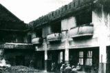Sokoli rozhýbali život ve městě / fotogalerie / Trosky sokolovny po požáru v roce 1974, foto: archiv Milana Králika