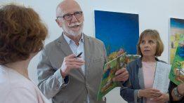 Vernisáž výstavy obrazů Jana Knapa