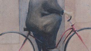 Radovan Veselý – dílo / fotogalerie / Radovan Veselý - Důchodce jedoucí na kole ze zaměstnání, foto: archiv autora