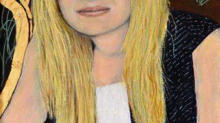 Miroslav Šnajdr st. – Obrazy, kresby / fotogalerie / Magdalena Kožená (2012) Tempera a olejový pastel na plátně 90 × 50 cm