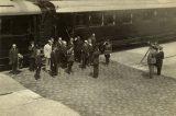 95. výročí státní návštěvy prezidenta Masaryka / fotogalerie / Příjezd prezidenta Masaryka na hranické nádraží, foto: archiv Milana Králika