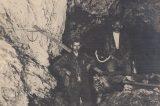 Z muzejních sbírek: Zbrašovské jeskyně / fotogalerie / Vyměřování v jeskyních u Zbrašova v roce 1918, foto: sbírky hranického muzea