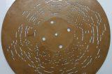 Z muzejních sbírek: Hrací skříňky / fotogalerie / Zadní strana lepenkového kotouče s melodií k hracímu stroji Ariston, foto: MKZ Hranice