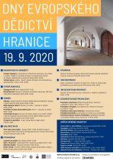 Program Dnů evropského dědictví v Hranicích / fotogalerie / DED 2020 plakát