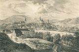Z muzejních sbírek: Korouhev ze zámecké věže / fotogalerie / Adolf F. Kunike - litografie cca1830, foto: sbírka Stanislava Miloše