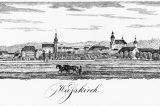 Z muzejních sbírek: Korouhev ze zámecké věže / fotogalerie / Rytina z roku 1839, foto: sbírka Jiřího Nebeského
