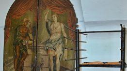 Z muzejních sbírek: Dveře ze Schlesingerovy pekárny