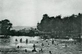 V muzeu bude přehlídka historických plavek / fotogalerie / Vojenská plovárna na Bečvě, 1892-1893, foto: Karl Jung, sbírka Jiřího Nebeského